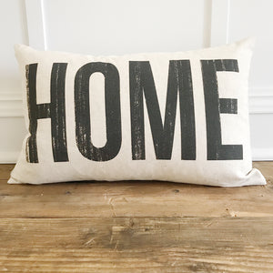 HOME Pillow Cover - Linen and Ivory
