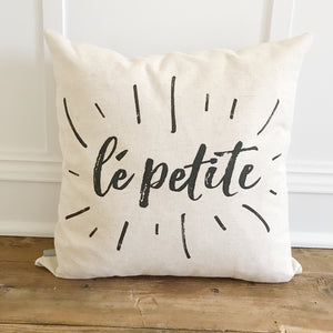 Le Petite Pillow Cover - Linen and Ivory
