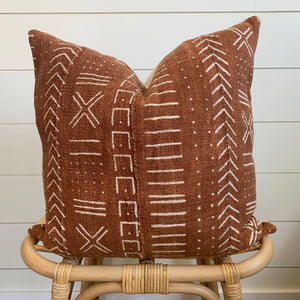 SEDONA || Authentic African Mud Cloth Pillow Cover