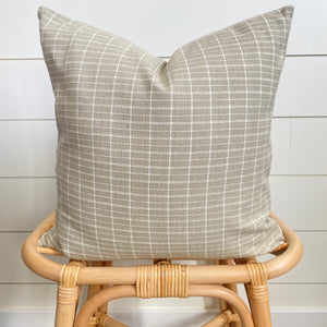 OLLY || Sand & Ivory Gridded Pillow Cover