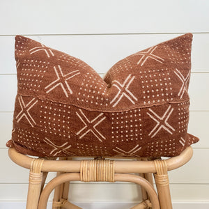 CARSYN || Rust Authentic African Mud Cloth Pillow Cover