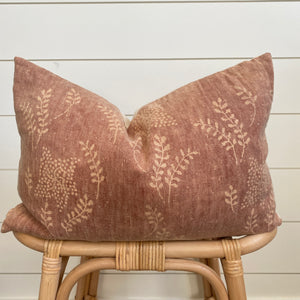 SCARLETT || Rust Floral Pillow Cover