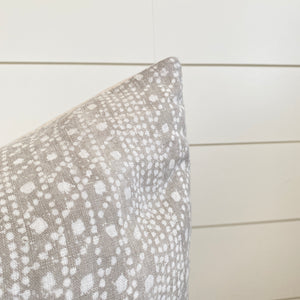 REMI || Pebble Gray Pillow Cover