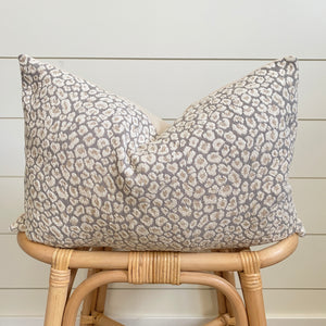 ADELE || Neutral Leopard Pillow Cover