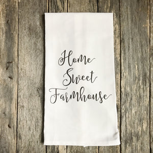 Home Sweet Farmhouse Tea Towel - Linen and Ivory