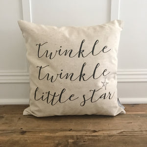 Twinkle Twinkle Pillow Cover - Linen and Ivory