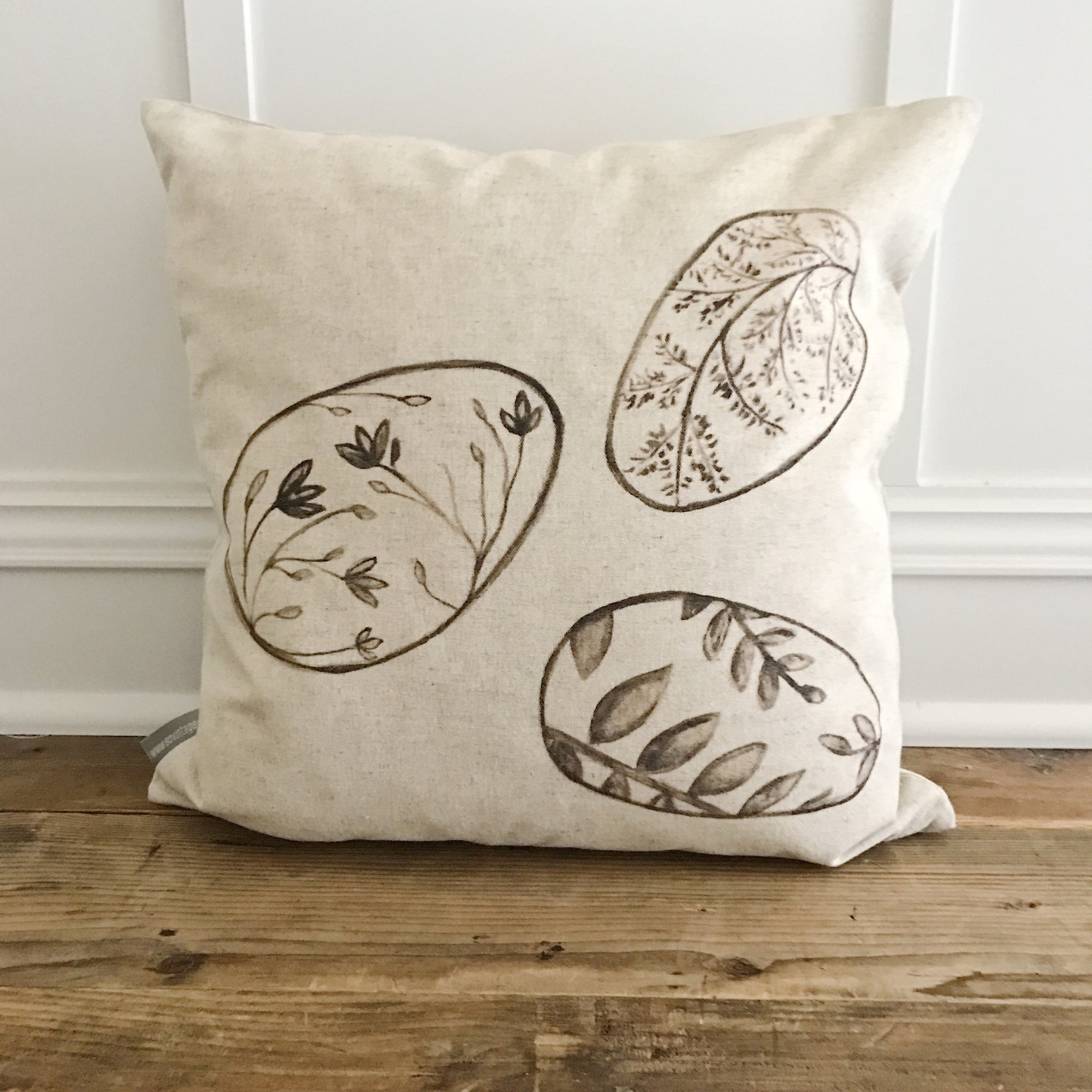 Pattern Eggs Pillow Cover - Linen and Ivory