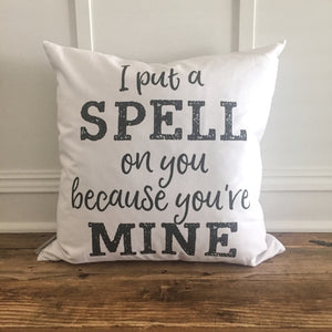 Spell on You Halloween Pillow Cover - Linen and Ivory