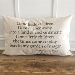 Halloween Quote Pillow Cover - Linen and Ivory