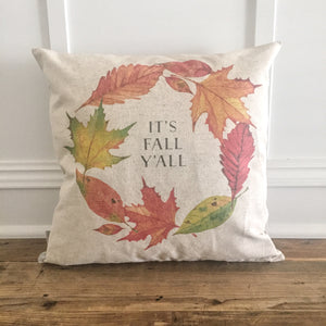 It's Fall Y'all Pillow Cover - Linen and Ivory