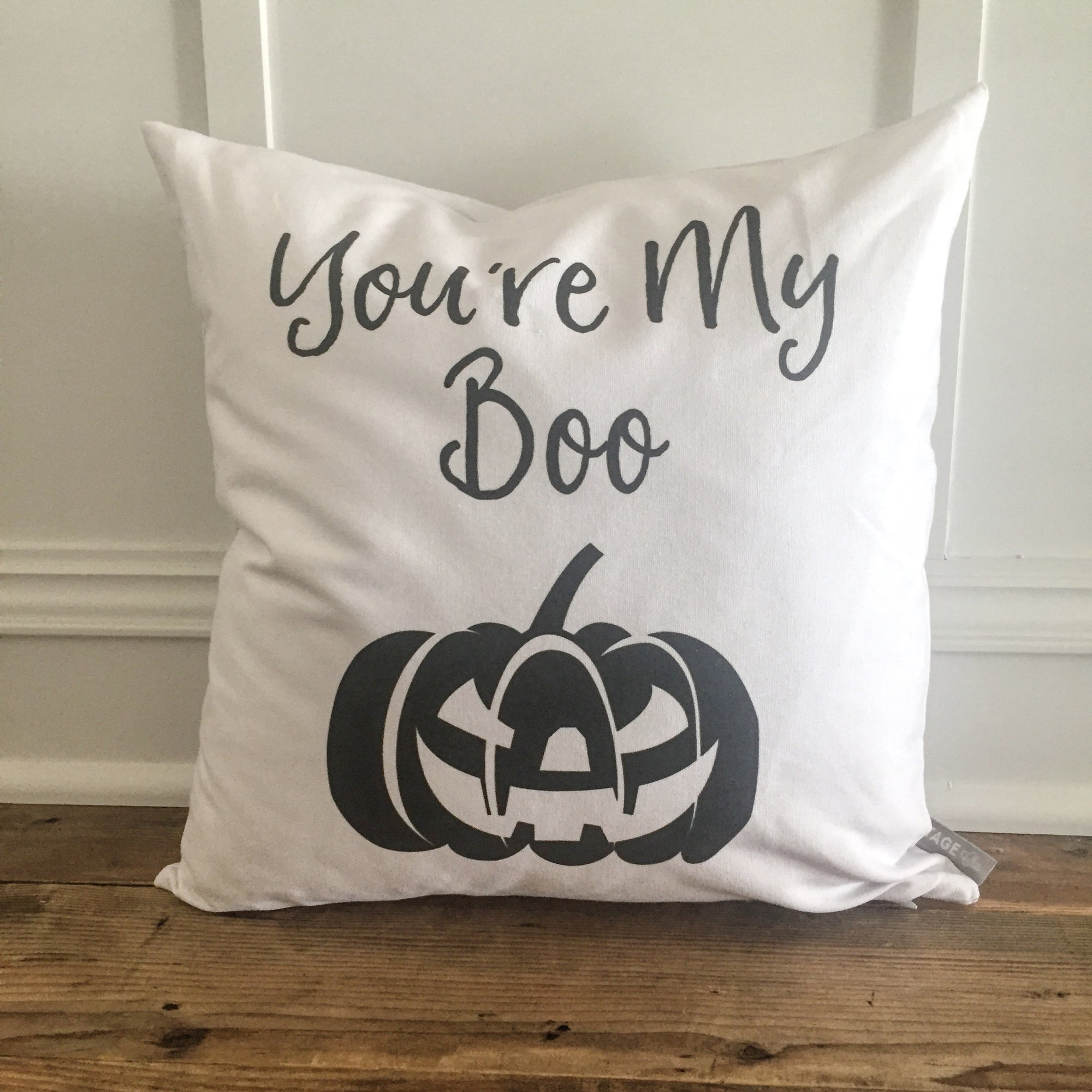 You're My Boo Pillow Halloween Cover - Linen and Ivory
