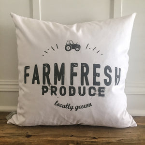 Farm Fresh Produce Pillow Cover - Linen and Ivory