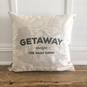 Getaway Cabin Pillow Cover - Linen and Ivory