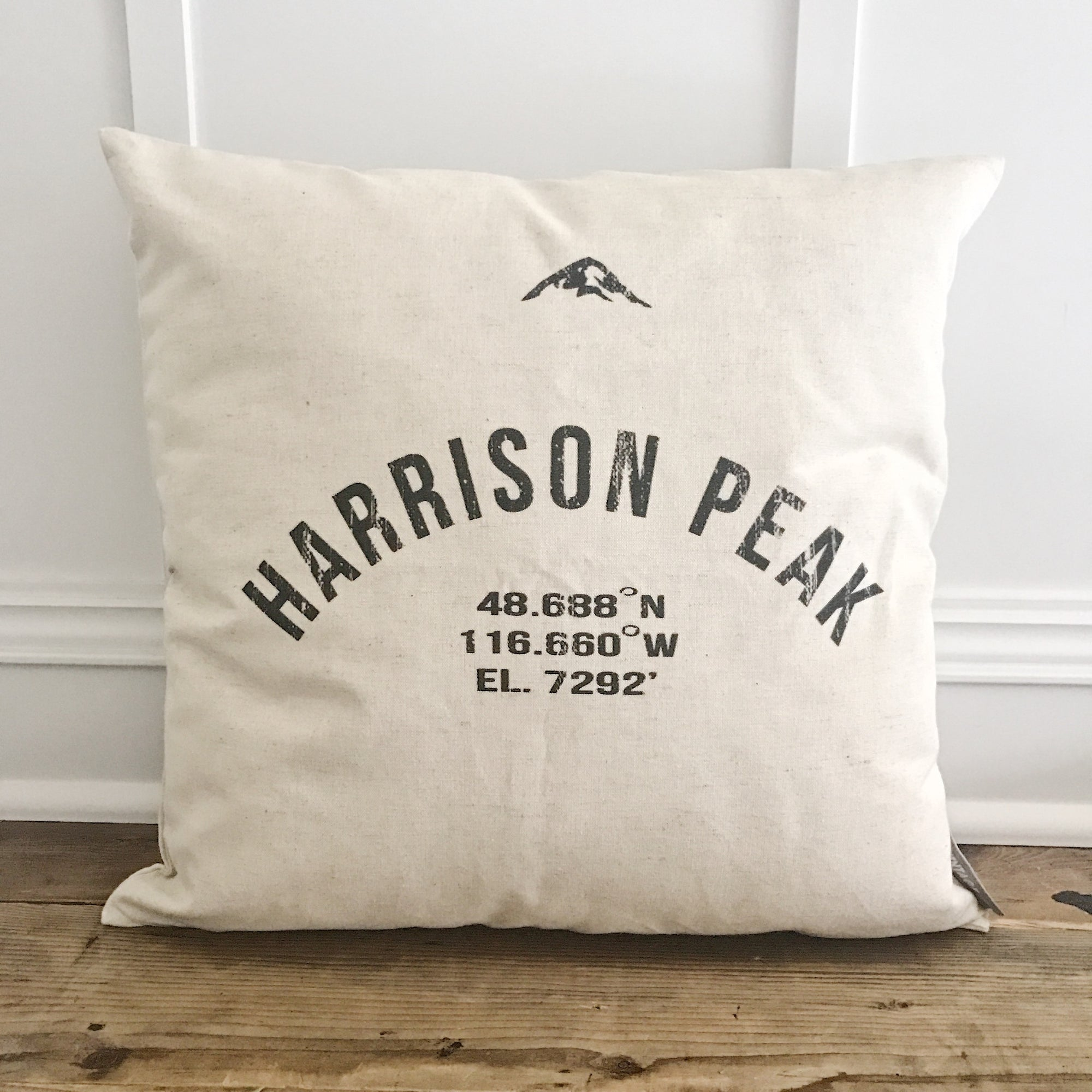 Mountain City & Coordinates Pillow Cover - Linen and Ivory