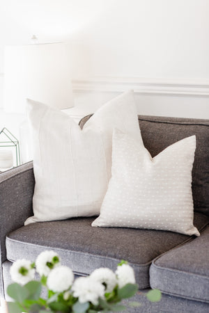 "The ""Brooklyn"" Sofa/ Loveseat Collection - Linen and Ivory"