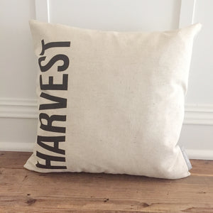 Vertical Harvest Pillow Cover - Linen and Ivory