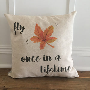 Fly Once Pillow Cover - Linen and Ivory