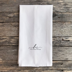 Home Sweet Lakehouse Tea Towel - Linen and Ivory