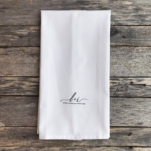 Laundry Care Tea Towel (Black) - Linen and Ivory