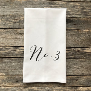 Number Tea Towel Set - Linen and Ivory
