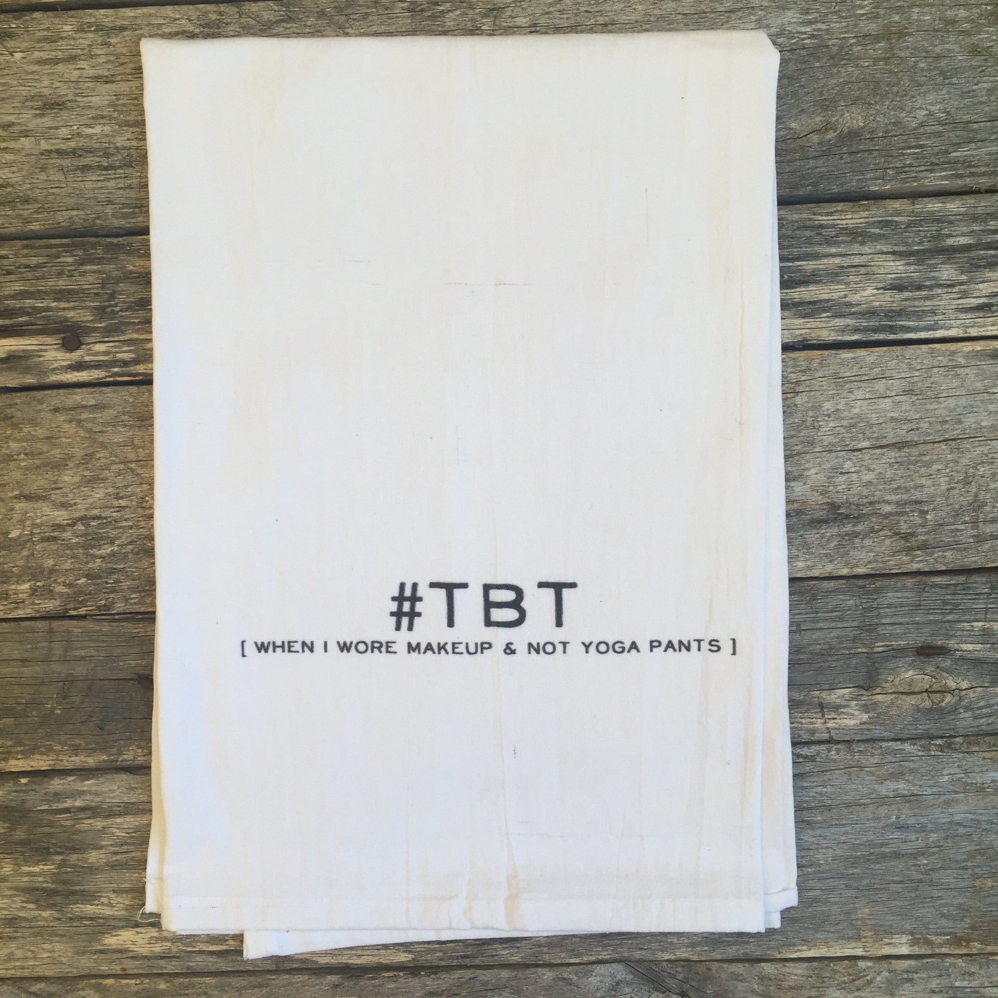#TBT Tea Towel - Linen and Ivory