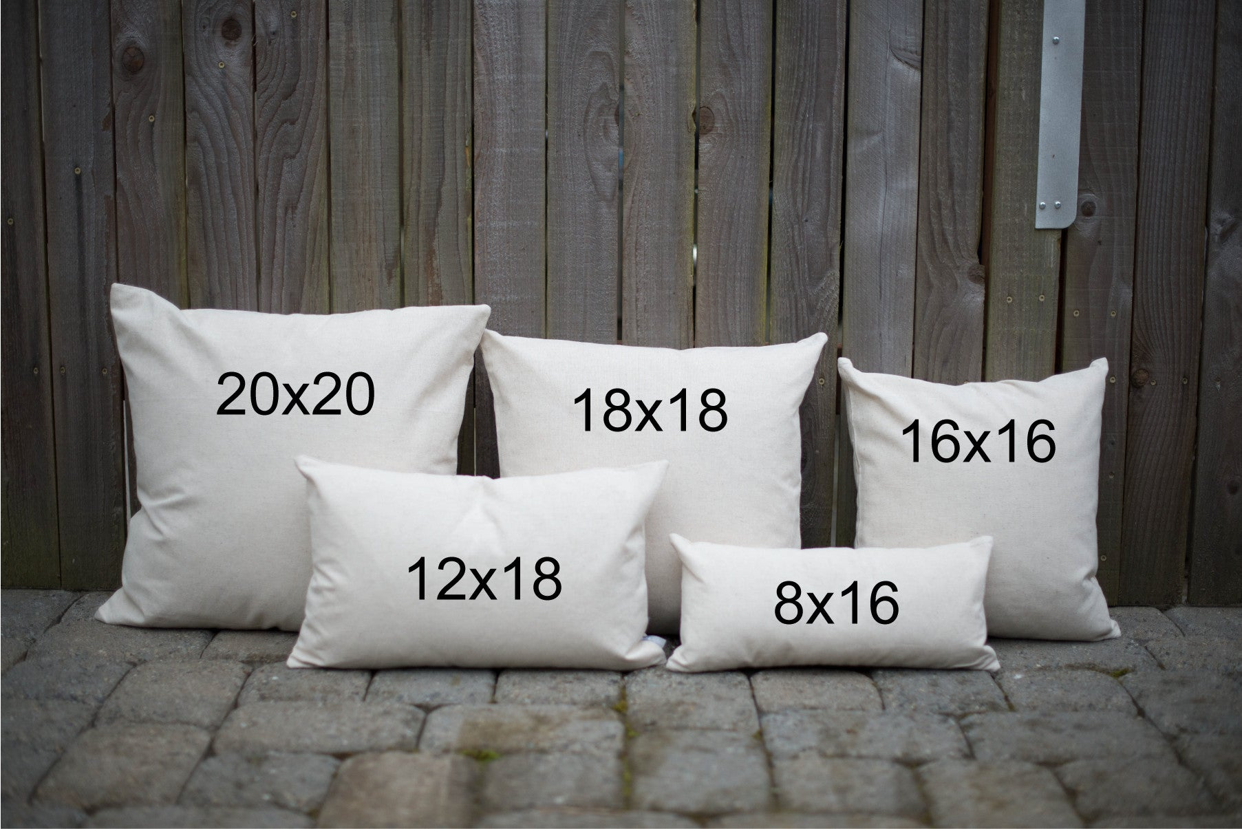 Pillow Inserts - Linen and Ivory