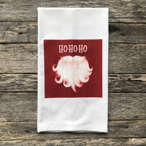 Santa Beard Tea Towel - Linen and Ivory