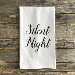 Silent Night Tea Towel - Linen and Ivory