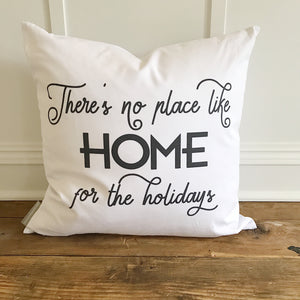 Home for the Holidays Pillow Cover - Linen and Ivory