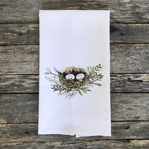 Nest Tea Towel - Linen and Ivory