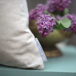 Indigo Pillow Cover (Design 3) - Linen and Ivory