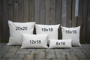 Tulip Signage Pillow Cover - Linen and Ivory