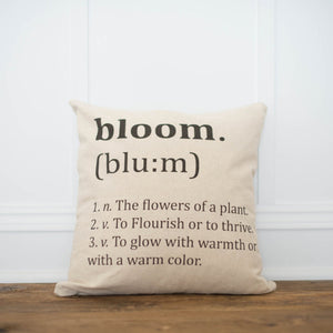 Bloom Definition Pillow Cover - Linen and Ivory