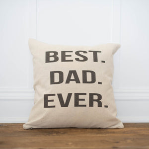 Best Dad Ever Pillow Cover - Linen and Ivory
