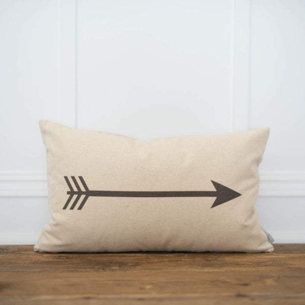 Arrow Pillow Cover - Linen and Ivory