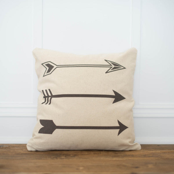3 Arrows Pillow Cover - Linen and Ivory