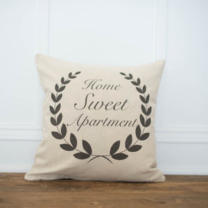 Home Sweet Apartment Pillow Cover - Linen and Ivory