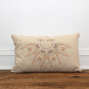 Free Spirit Pillow Cover - Linen and Ivory
