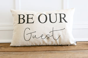 Be Our Guest Pillow Cover - Linen and Ivory