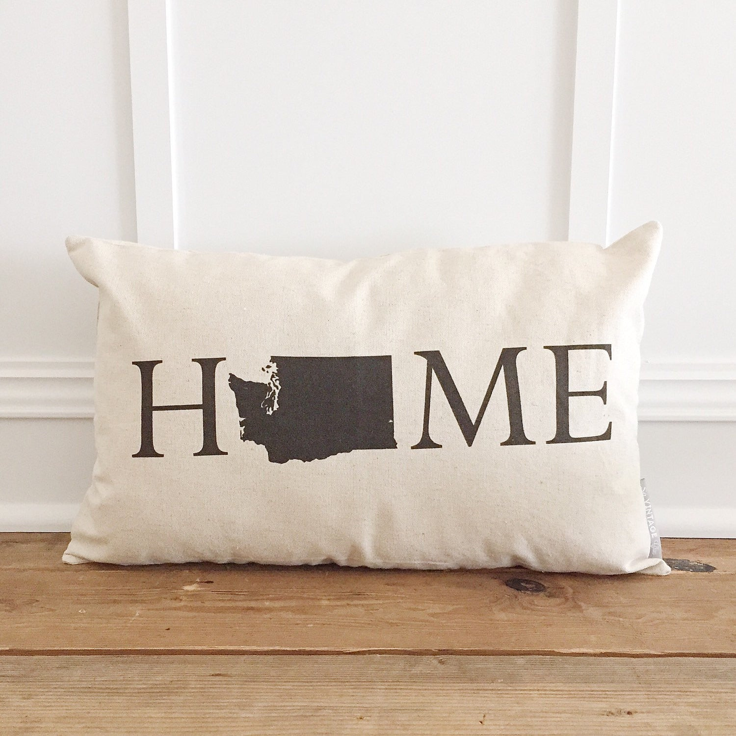 Home State Pillow Cover - Linen and Ivory