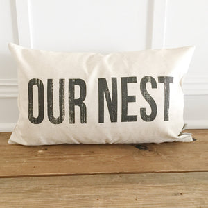 Our Nest Pillow Cover - Linen and Ivory