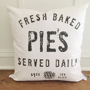 Fresh Baked Pies Pillow Cover - Linen and Ivory