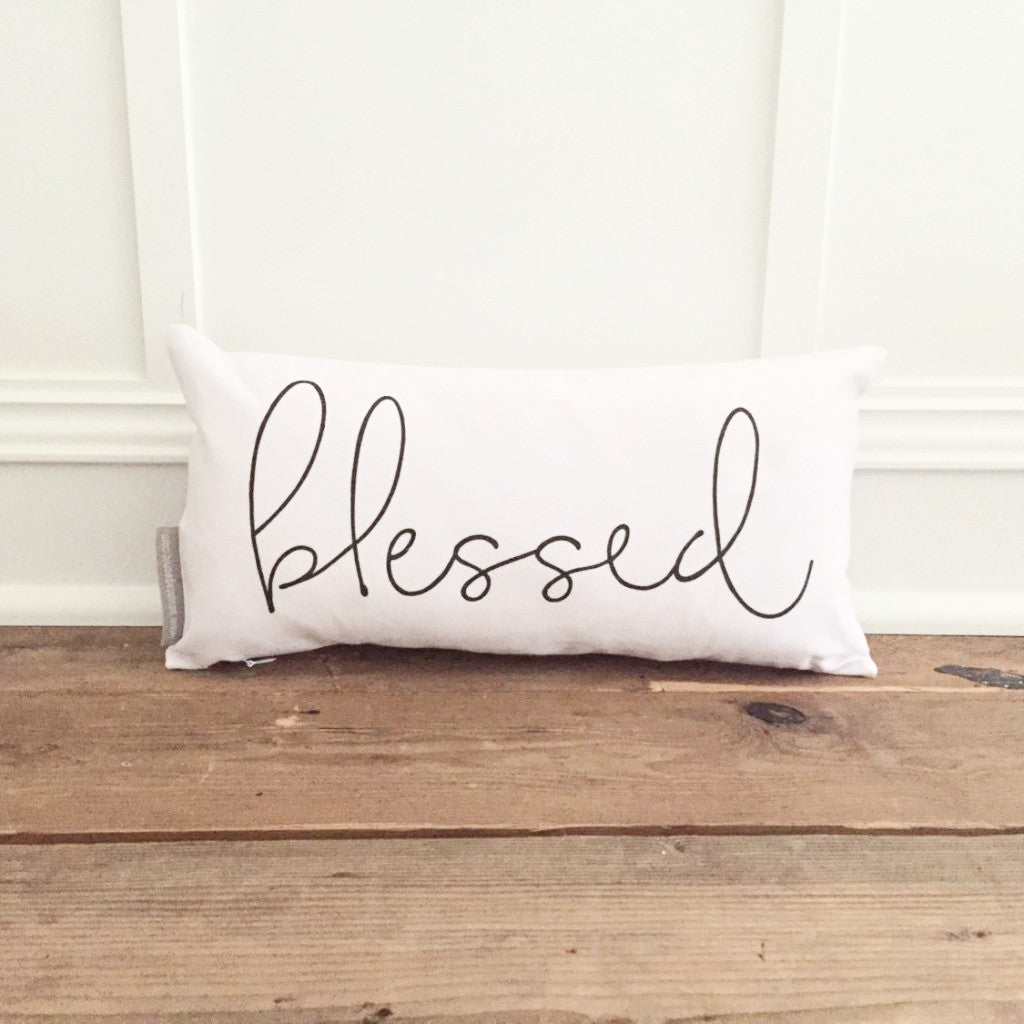 Blessed Pillow Cover - Linen and Ivory