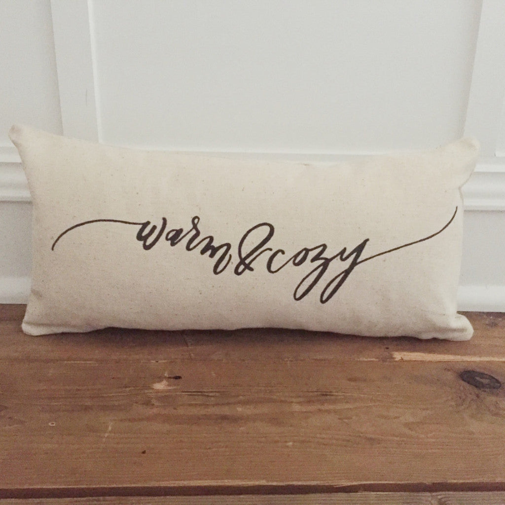 Warm & Cozy Pillow Cover - Linen and Ivory