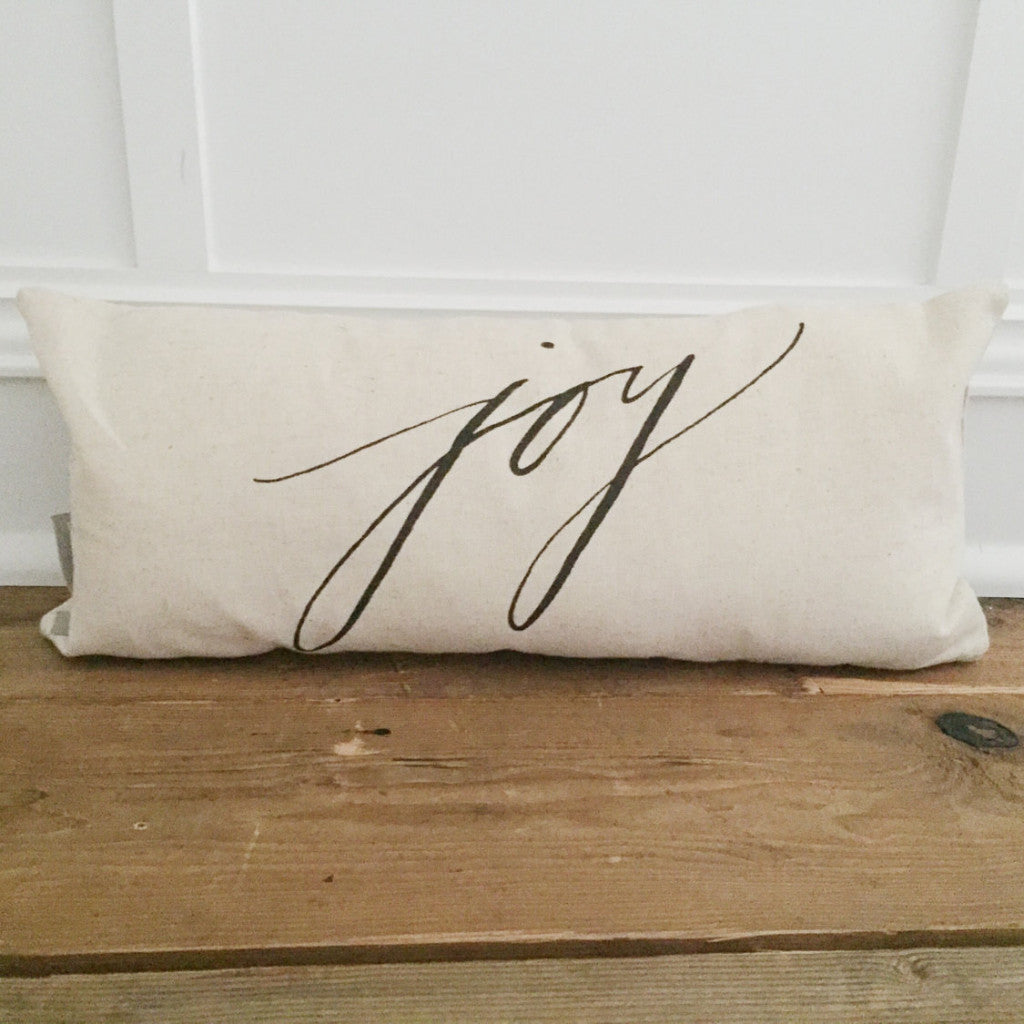Joy Pillow Cover - Linen and Ivory