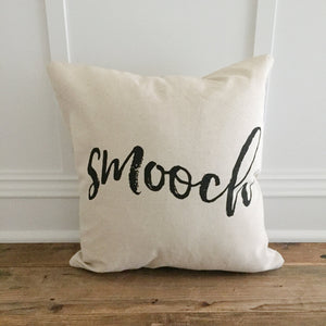 Smooch Pillow Cover - Linen and Ivory