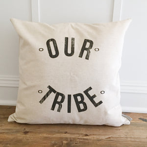 Our Tribe Pillow Cover - Linen and Ivory