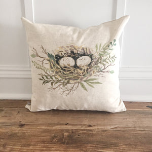 Nest Pillow Cover - Linen and Ivory