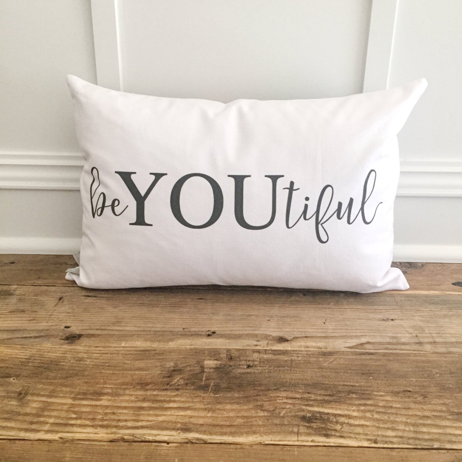 beYOUtiful Pillow Cover - Linen and Ivory