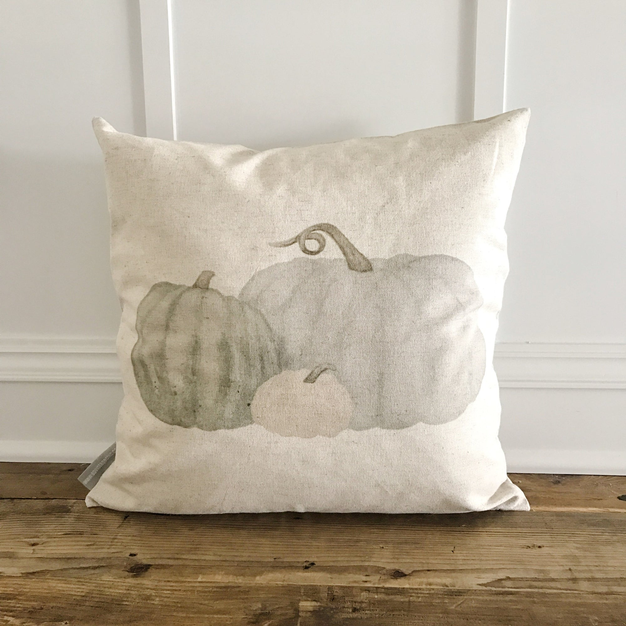 Cinderella Pumpkins Pillow Cover - Linen and Ivory